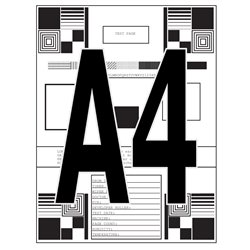 A4, impresión de documentos en blanco y negro
