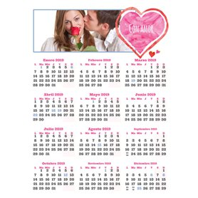10 Calendarios de pared 1 hoja 30X40 cm.