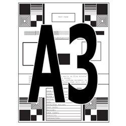 A3, impresión de documentos en blanco y negro